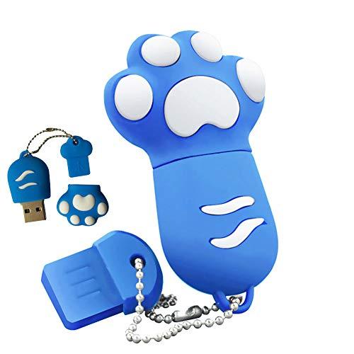 Shuda 1 pcs Flash USB Pen Drive Chiavette USB in PVC Artiglio di gatto 128MB/2 GB/4 GB/8GB/16 GB/32 GB Black Friday 2018 size 32GB (Blu)