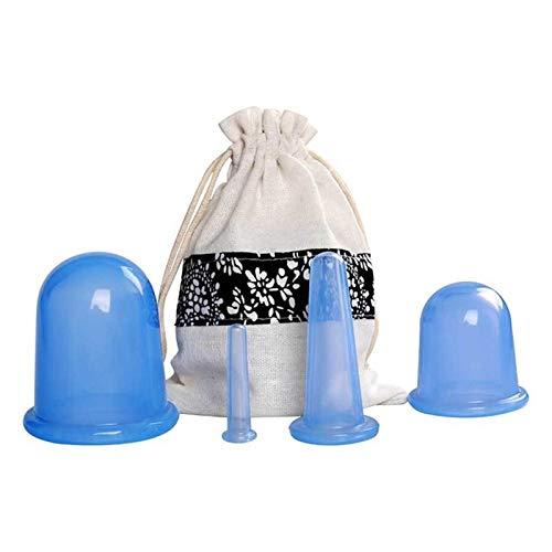 FLLOVE FANGLIANG 5pcs in Silicone Anti Cellulite Tazza aspirapolvere a Coppa Ventosa Massaggio Tazze di Massaggio Corpo Dolore Sollievo Massaggio Rullo Manuale Ventosa for Ventosa Terapia