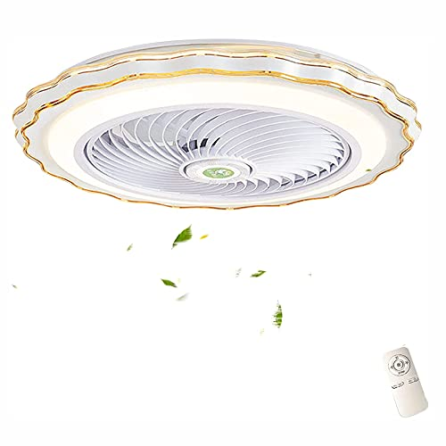 5 Cuchillas Luces De Ventilador 3 Temperaturas De Color LED Ventilador De Techo Con Iluminación, Control Remoto 3 Velocidades Del Viento Lámpara De Techo Ajustable Con Ventilador, Para Dormitorio