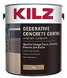 2. KILZ L378601 Interior/Exterior Slip-Resistant Decorative Concrete Paint, 1 Gallon, Tan