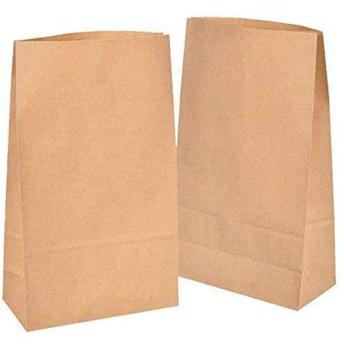 kgpack 50 STK Papiertüten klein 18 x 30 x 8 cm Kinder, Bodenbeutel, Obstbeutel, Mitgebsel Kindergeburtstag, Süßigkeiten, Geschenkverpackung, Tüten aus Braun Kraft Geschenkpapier