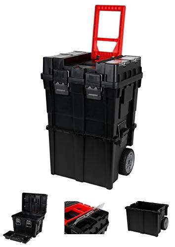 XL Werkzeugkoffer leer mit Rollen Werkzeugkiste Werkzeugkasten Werkzeug Trolley