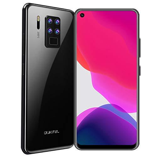 "OUKITEL C18 Pro Dual 4G Smartphone Libre,6.55\"" FHD+ 20:9 Pantalla Completa,16MP Quad Cámara Trasera, 4GB RAM+ 64GB ROM Octa-Core Android 9.0 Teléfono Móvil, Batería 4000mAh, Face ID+Fingerprint(Negro)"