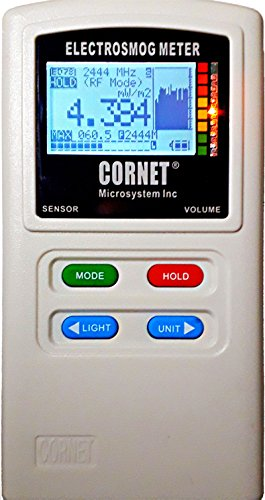 EMRSS Cornet ED88T Plus Tri Mode Meter Latest Version of The ED88T. EMF/RF Detector/Acoustic and Low Frequency Gaussmeter and Electric Field Meter with Sound Signature and Datalogger