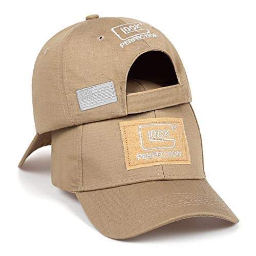 Baseball Cap Hat Snapback Tactical Glock Shooting Sports Baseball Cap Fishing Caps Men Outdoor Hunting Jungle Hat Airsoft Hiking Casquette Hats Khaki