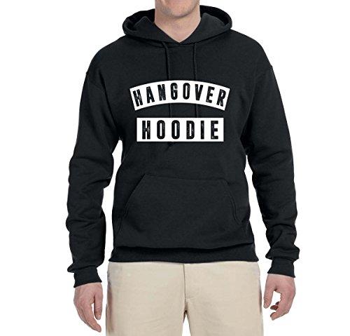 Hangover Hoodie   Humor Drinking Night Out   Unisex Hooded Sweatshirt Graphic Hoodie, Black, Small