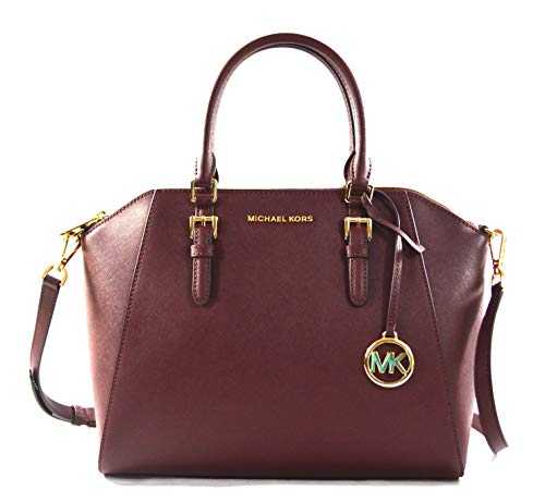 """Made of Saffiano leather Removable and adjustable crossbody strap, wear three ways, crossbody, over the shoulder or carry by hand Top zip closure Outside 1 back slip pocket, inside 1 zip pocket and 2 slip pockets 13""""L x 10""""H x 5""""D"""
