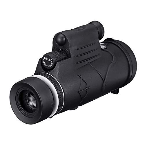 Cámera Vídeo Jaula 40x60 Monocular HD Optic Day Night Vision Led Telescopio De Linterna con Soporte para Teléfono con Trípode Caso De Cine