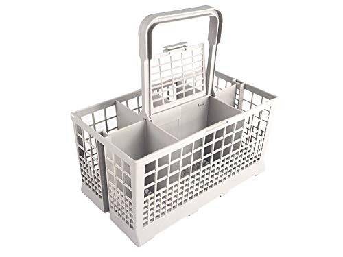 Sanfor - Cesta Universal de Cubiertos para Lavavajillas, 7 Compartimentos, color Gris, Talla única, 24 x 13,50 x 12,50 cm