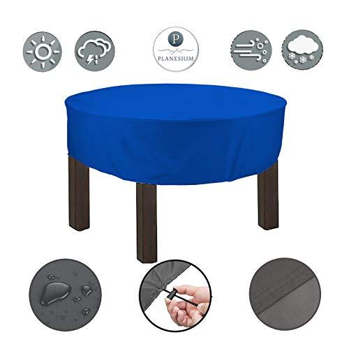 Planesium Premium dekzeil tuintafel rond afdekhoes ronde tafel afdekking beschermhoes garnituur tuinmeubelset scheurvast ademend waterdicht Ø 280cm x 45cm blauw