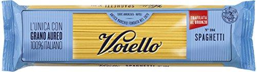 Voiello Pasta Spaghetti N. 104, Pasta Lunga di Semola Grano Aureo 100% - 500 gr