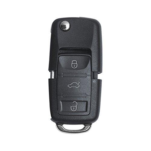 TUINCYN Mando a Distancia de Entrada sin Llave Llave de Coche ID48 Chip 434 MHz Fobo con 3 Botones 1k0 959 753 G para Skoda Volkswagen Seat Paquete de 1