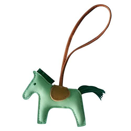 oksiss Rodeo Bag Charm for Women Horse PM Purse Car Key Chains Handmade Luxury Accessories, Applegreen