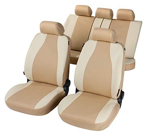 rmg-distribuzione Coprisedili Beige compatibili per YPSILON Versione (2003 -2011) compatibili con sedili con airbag, bracciolo Laterale, sedili Posteriori sdoppiabili R31S0396
