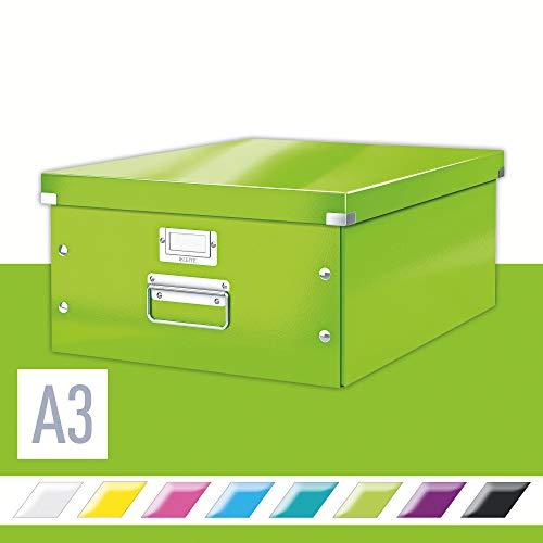 Leitz Aufbewahrungsbox Click & Store WOW Groß, Grün, L