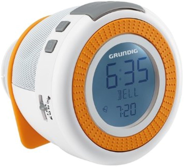 Grundig Sonoclock 230 Uhrenradio mit Wake-up Light, USB und microSD-Kartenschacht wei Orange