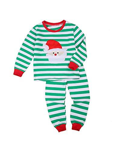 Geagodelia - Conjunto de Navidad de algodón para recién nacido, 2 piezas, pijama para niños,...