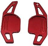 VOLANTE paddle shift Usato per Steering Wheel car turno di pagaia Shifter, Fit For Audi A1 A3 A4 A5 A6 A7 A8 Q5 Q7 TT S3 S4 S5 R8 TTS, Colore: Nero Sterzo pagaie ruota modificata (Color : Red)