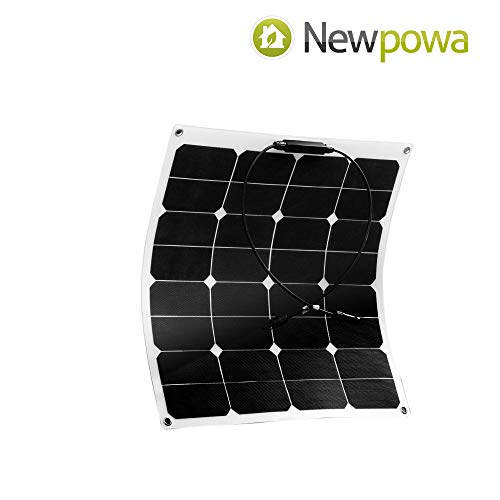Newpowa 50w 12V Flexibles Solarpanel Ladegerät Semi biegsames wasserfestes Solar Ladegerät für RV, Boot, Kabine, Zelt, Auto