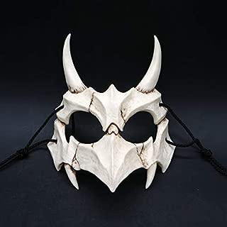 Fishoo Anime Halloween Half Face Mask Cosplay Resin Creepy Masks Party Props