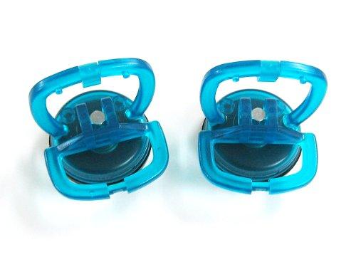 2 x hoogwaardige mini-zuignappen glaszuiger, zuignap ø 55 mm (eenhands-zuignap) bijvoorbeeld voor Imacs voorruiten.
