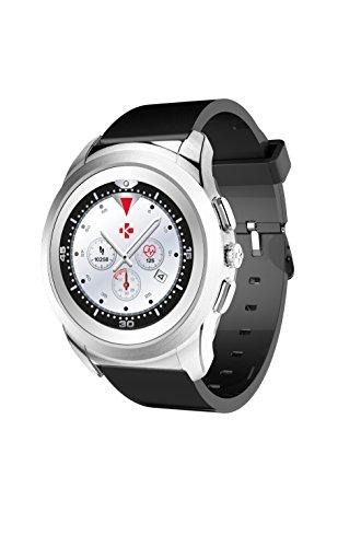 MyKronoz ZeTime Reloj Inteligente Negro, Plata TFT 3,1 cm (1.22') - Relojes Inteligentes (3,1 cm (1.22'), TFT, Pantalla táctil, 30 h, Negro, Plata)