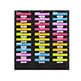 Heavy Duty Storage Pocket Chart with 30 Nametag Pockets | Hanging Wall File Organizer by Hippo Creation - Organize Your Assignments, Files, Scrapbook Papers & More (Black)