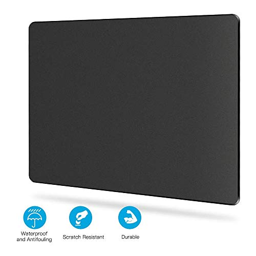 Puiuisoul Black-Gaming-Mousepad,Hard-Mouse-Pad with Non-Slip Rubber Base,Fast-Accurate-Control Smooth-Plastic-Surface-Stiff Mouse-mat with Enhance-Precision for Laptop, Computer & PC