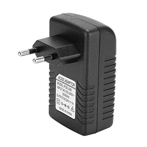 Iniettore POE, spina adattatore di alimentazione DC 24V 1A, spina mini verruca a parete per iniettore POE, standard UE USA opzionale 100-240 V(EU)