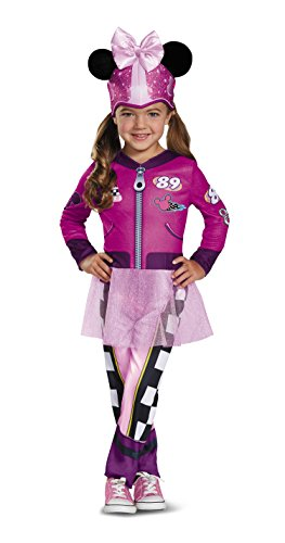 Disguise Disney Minnie Mouse Roadster Racer Toddler Girls' Costume Multicolor, S (2T)