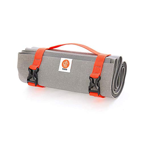 Ultralight Travel Yoga Mat With Attached Straps, Handle, Origami Folding Design for Commuting and Travel