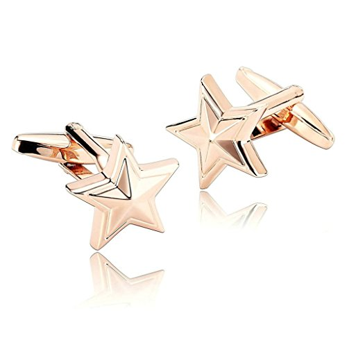 Daesar Homme Boutons De Manchette Acier Inoxydable Rose Or Étoile De Mer Star Poisson Mers Beach Bouton De Manchette 1.7X1.7CM
