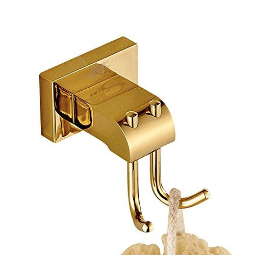 Weare Home All messing gepolijst goud finished jashaak hoedenhaak modern luxe design decoratie badkamer accessoires wandmontage boren wandhouder