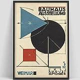 Cartel de escalera de la Bauhaus Weimar 1923 Impresión de la exposición de la Bauhaus Póster de Herbert Bayer Impresión de la Bauhaus Impresión de arte de Waln Warhol-90x130cm sin marco, U1220