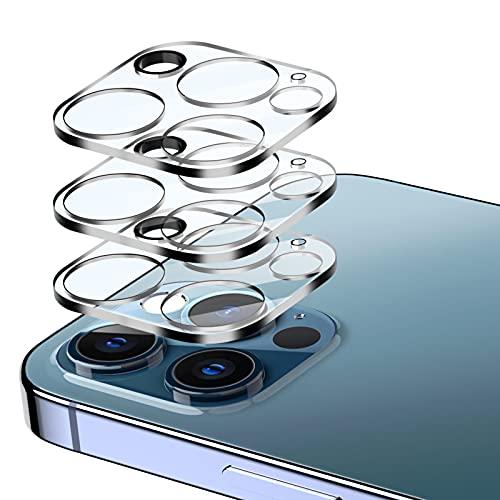 EGV Compatibile con iPhone 12 Pro Max 6.7 Pulgada Protector de Lente de Cámara,3 Pack Cristal Templado