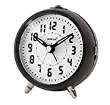 OREVA Alarm Table Clock with LED and 4 Step Buzzer Sound