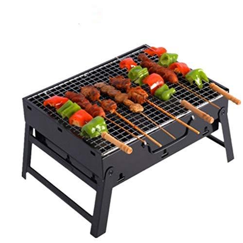 XiYou Feuerstelle Schüssel BBQ Garten im Freien tragbare Edelstahl Grill Holzkohle 3~5 Personen Faltbarer Raucher