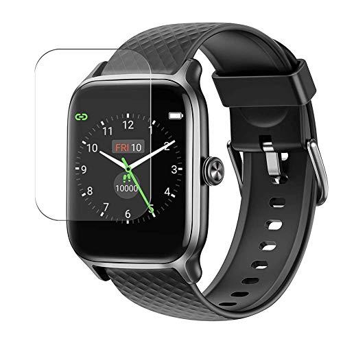 Vaxson 3 Stück Schutzfolie, kompatibel mit Letsfit EW1 1.3' Smart watch, Bildschirmschutzfolie TPU Folie [nicht Panzerglas]