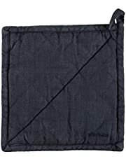 Grytlapp Linne/Bomull, Blå 21x21 cm