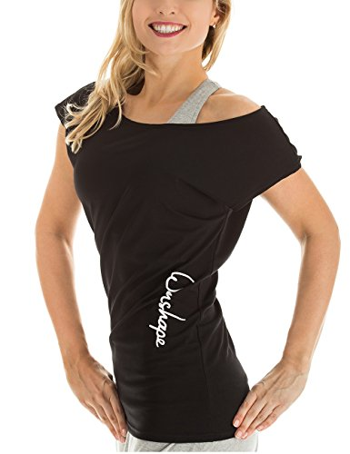 Winshape WTR12 –Camiseta para Baile y Fitness, para Mujer, Todo el año, Mujer, Color Negro, tamaño Extra-Large