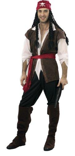 Ciao 16105 - Pirata, Taglia XL, Marrone/Bianco/Nero/Rosso