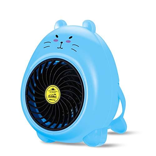PUDDINGH® Mini Dessin Animé Charmant Ménage Chauffe-Eau Hiver Portable Bureau Petit Chauffage,Blue
