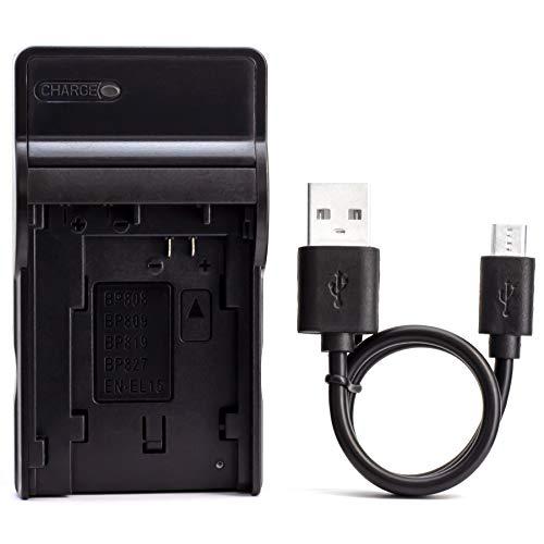 BP-808 USB Ladegerät für Canon FS100, FS200, FS300, LEGRIA HF G10, LEGRIA HF G25 Kamera und Mehr