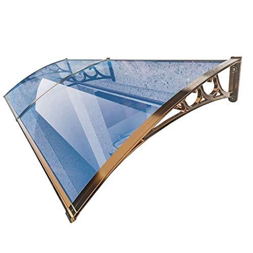HYL Vordach für Haustür Aluminium Markise Markise, erhältlich in einer Vielzahl von Größen, geeignet for Türen und Fenster, Klimaanlage oben, zu vermeiden regen (Size : 120cm*100cm)