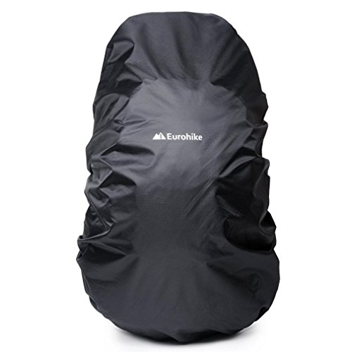 Eurohike Water Repellent Rucksack Cover 55-75L Camping Rucksacks, Black, One Size