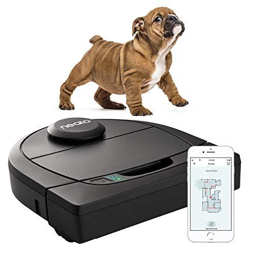 Neato Robotics D450 Premium Pet Edition - Compatibile con Alexa - Robot aspirapolvere con stazione di ricarica, Wi-Fi & App