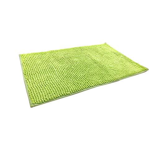 Eanpet - Alfombrilla de baño de felpilla antideslizante de microfibra para niños ultra suave, lavable, secado rápido, absorbente de agua, Verde, 20'X 32'