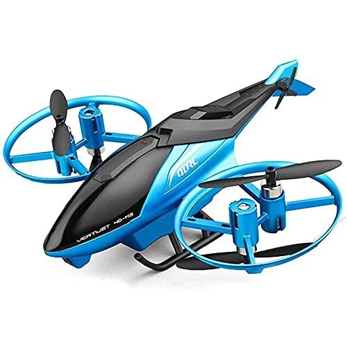 GRTVF Aviones de Doble cámara RC de la cámara de Alta definición, Helicóptero de Control Remoto Niños Juguetes, despegue de una Llave y Aterrizaje for Principiantes, Flotador y Rollo, RC Avion