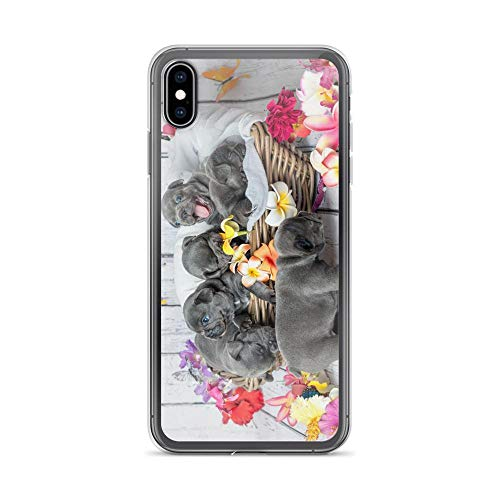 Compatible for iPhone 6/6s Case Frenchie Puppy Mom Picture Flowers TPU Anti-Scratch