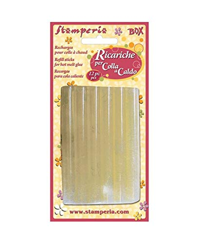 Stamperia KRH01R Pack 12 recharges Colle à Chaud, Multicolore, 300 G